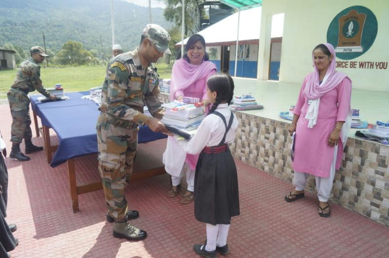 Provision of Books and Stationery to Below Poverty Line students of Army Goodwill School, Potha on 28 July 2017.
