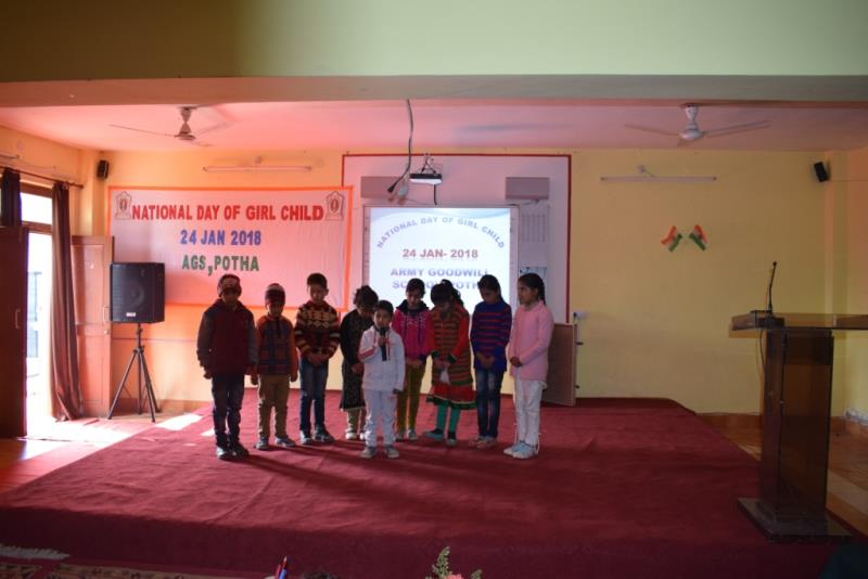 """National Day of Girl Child"" at AGS, Potha"